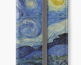 Folio Wallet Case for iPhone 8 Plus, iPhone 8, iPhone 7, iPhone 6 Plus, iPhone SE, iPhone 6, iPhone 5s - The Starry Night Van Gogh Case
