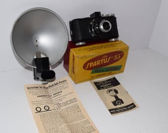 "Vintage Spartus ""35"" Camera Kit w/Flash and Original Box"
