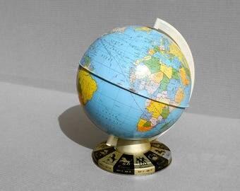 Mid Century Tin World Globe