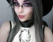 Scene Straight Layered Wig in Platinum Dark Gray Ombre