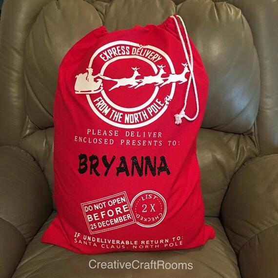 Personalized Santa Bag, Canvas Santa's bag, Santa toy bag, Personalized Christmas bag, Christmas bag, Santa bag, Canvas bag, Toy sack