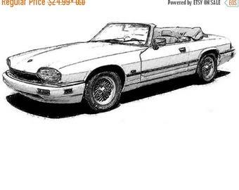 40% OFF Sale Jaguar XK Drawing T-Shirt