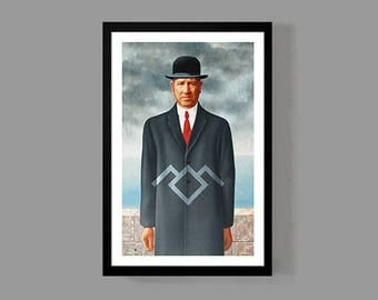 Twin Peaks Poster - David Lynch Print - The Son of Man Reproduction - TV Movie Classic Art