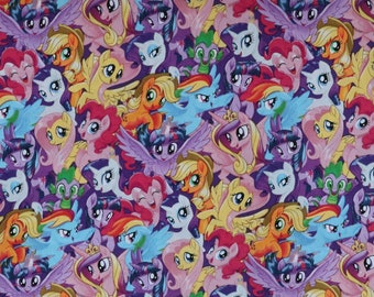 Fabric - My little Pony - woven cotton print.