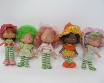 Strawberry Shortcake  - 5 Vintage Dolls