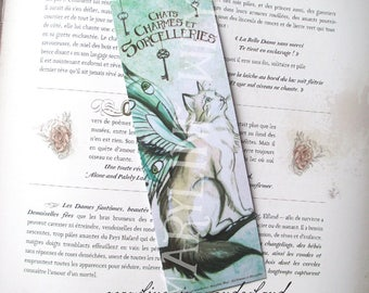 "Bookmark cat ""cat, charms and sorcery"" Butterfly Fairy cat"