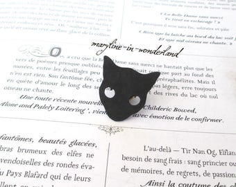 PIN brooch Black Cat Head