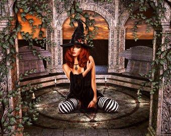 witch psychic tarot reading