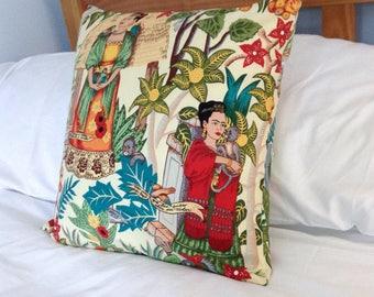 Frida Kahlo Cushion, Frida Kahlo Pillow, Frida Kahlo Print, Frida Kahlo Fabric, Feminist Cushion, Frida Kahlo Uk, Inspirational Cushion