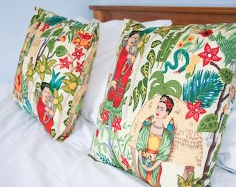 Frida Kahlo Cushion, Kahlo Cushion, Frida  Pillow, Frida Print, Frida Fabric, Feminist Cushion, Kahlo, Frida Kahlo cushion cover, Fridamania
