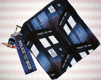 Small Dr. Who Tardis And Van Gogh Pouch