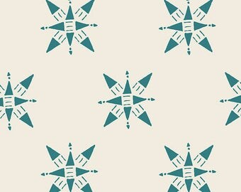 Art Gallery Love Story Compassion in Teal 38808 Designed by Maureen Cracknell - Pick your cut