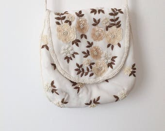 Vintage Hand-Beaded Purse Handbag