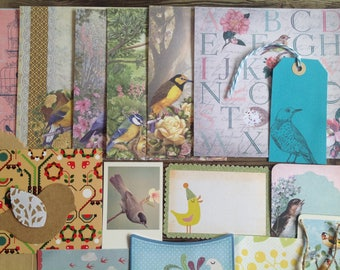 Inspiration pack, DIY kit, gift wrapping kit, bird inspired packaging, variety pack