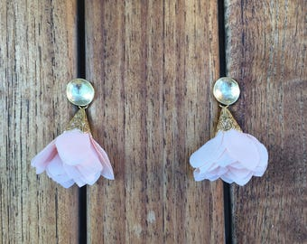 Light Pink Tulip Earrings
