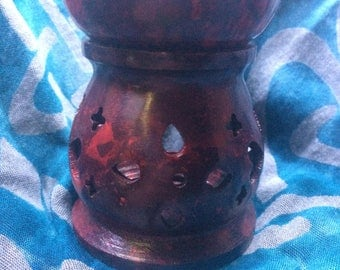 Red Aroma Lamp Oil Diffuser
