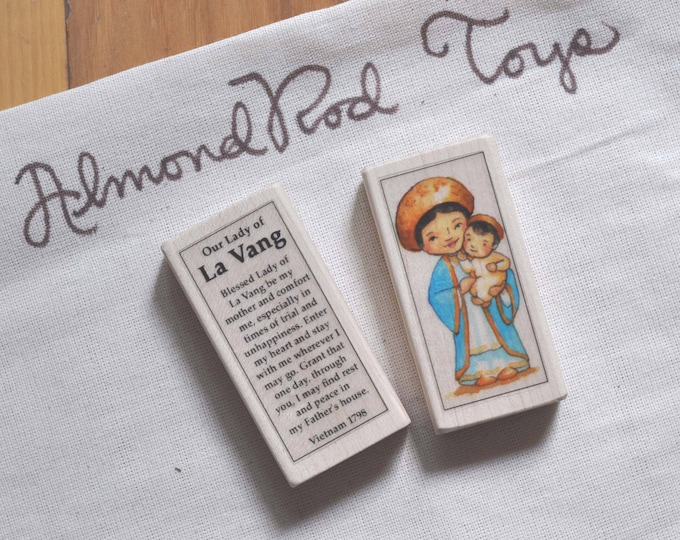 Our Lady of La Vang Patron Saint Block // 100+ Catholic Saints to choose from // catholic girl // patron of vietnam