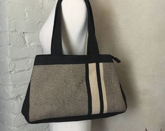 Vintage Canvas Tote Bag / Outing Bag
