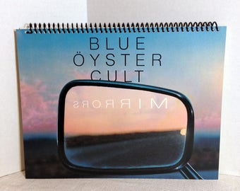 Blue Oyster Cult Mirrors Album Cover Notebook Handmade Spiral Journal Blank Composition Book