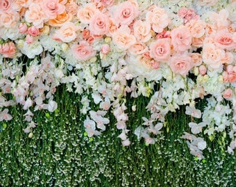 Wedding Backdrop Flowers Wall Photo Printed Background Baby Newborns Birth Party Celebration Dector Floral