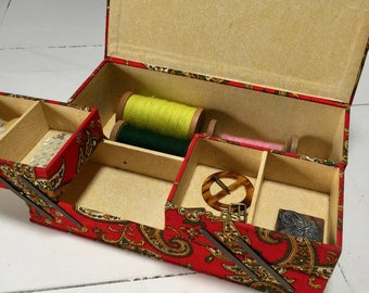 French Vintage Sewing Box, Button Box