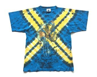 Vintage Wolverine T Shirt 90s Xmen t shirt Wolverine tie dye t shirt universal marvel comics dc comics shirt mutant shirt