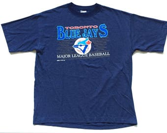 Deadstock toronto blue jays t shirt 1993  striped ravens athletics graphic tee size xl mlb baseball New vintage nos