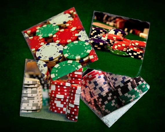 Retro poker set