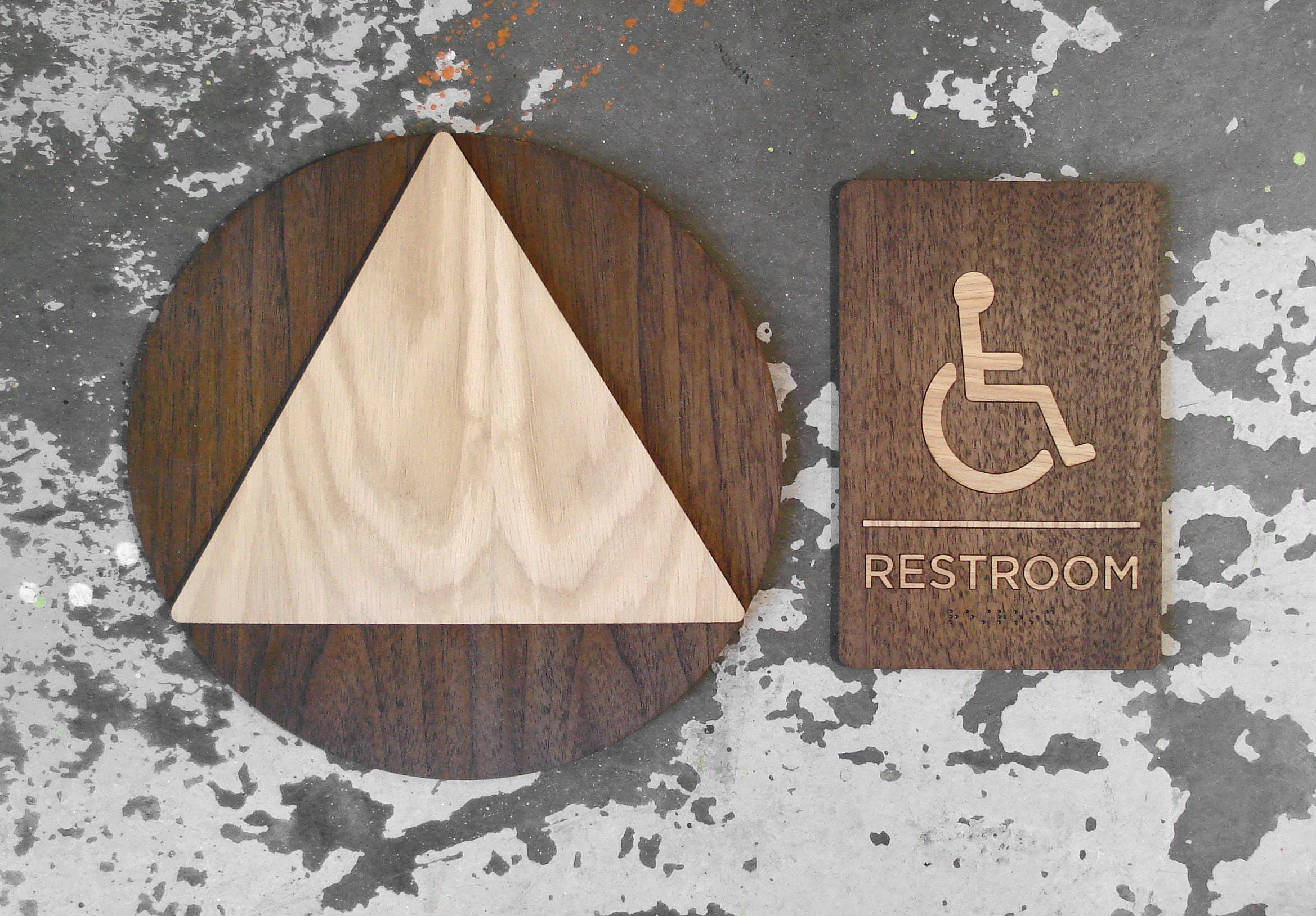 Bathroom Signs California california ab 1732 restroom signs ada unisex bathroom set