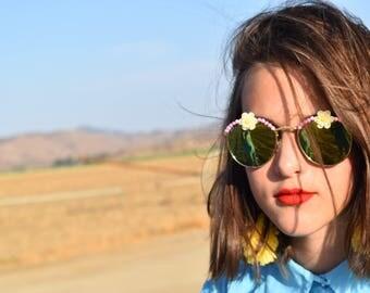Daisy embellished sunglasses