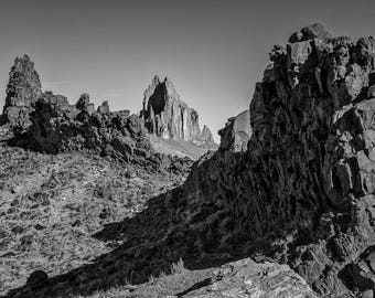 Ship Rock No. 7, Navajo Reservation, 2017: A Black and White Photograph 12x15