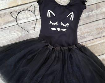 Toddler Cat Halloween Costume, Cat Tutu Costume , Girls Cat Costumes ,  Baby Girl Cat Costume , Kitten Outfit,, Toddler Halloween