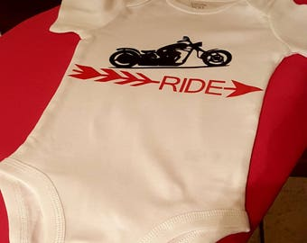 Motorcycle Baby Onesie*Ride Baby*Motorcycle Baby*Ride*Baby*Cycle Baby
