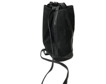 Large Suede Leather Bucket Bag Sling Large Purse