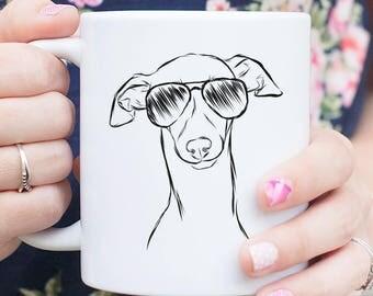 Ziggie the Italian Greyhound / Whippet Dog Mug - Gifts For Dog Owner, Whippet Art, Italian Greyhound Gift