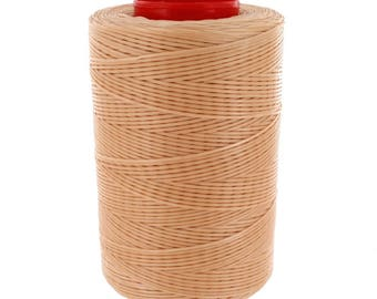 Ritza 25 Tiger Thread, Waxed Polyester, Beige, 0.8mm - 500 meters