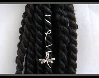 Dragonfly Hair Charm, Dread Charm, Dread Bead, Dread Cuff, Dreadloc Bead, Dreadloc Cuff, Loc Charm, Loc Cuff, Hair Cuff, Rasta Bead