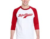 Republicans Baseball Practice Shirt 3/4 Raglan Sleeve T-Shirt