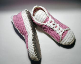 Women Slippers/ House Sneakers/ Pink Shoes/