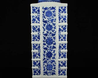 N3802 Chinese Qing Dynasty Blue And White Porcelain Vase