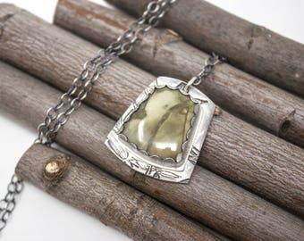 Carrasite Fine Silver Necklace - GD310