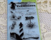 Fantastic Fiskars Cling Stamps A The Ocean, The Beach #489-AS