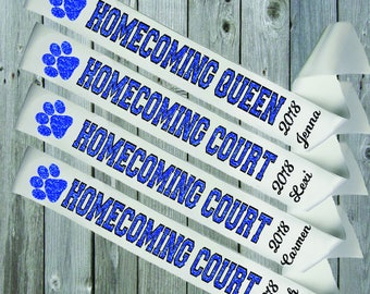 WHITE SASH OUTLINE Homecoming with Paw