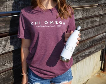 Chi Omega insulated Bottle, 17 0z