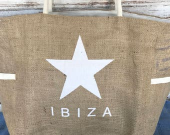 Ibiza jude big beach and shopping bag