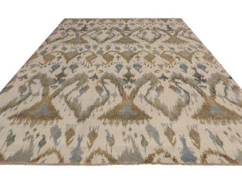 Contemporary Abstract Ikat Rug with Modern Style