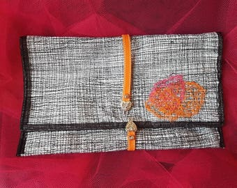 """Couture"" felt clutch bag"