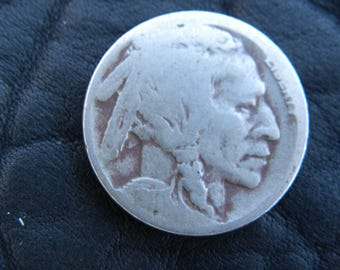 1917  US circulated  authentic vintage Buffalo Indian Nickel coin full date  A134