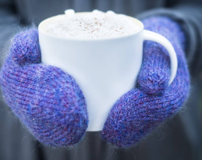 Classic knit mittens - small, medium and large