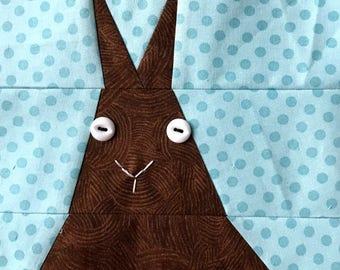 Chocolate Bunny Paper Pieced Block Pattern in PDF